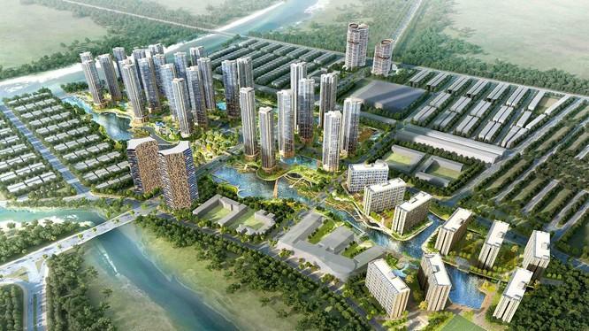 Phối cảnh dự án Khu đô thị Sài Gòn Bình An (Nguồn: Alinco)