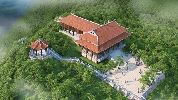 Dự án Khu Du lịch tâm linh - sinh thái Tây Yên Tử có quy mô 136 ha, tổng vốn đầu tư khoảng 1.500 tỉ đồng, dự kiến hoàn thành vào năm 2025 (Ảnh: Internet)
