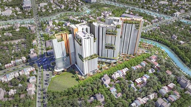 Phối cảnh dự án Aster Garden Towers Bình Dương (Nguồn: danhkhoireal.vn)