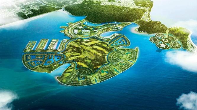 Phối cảnh dự án Khu du lịch quốc tế Đồi Rồng, Hải Phòng (Nguồn: Geleximco)