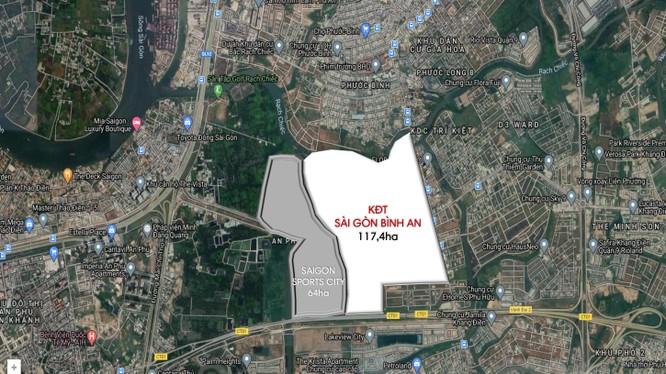 Vị trí và quy mô dự án Sài Gòn Bình An (Nguồn: Internet)