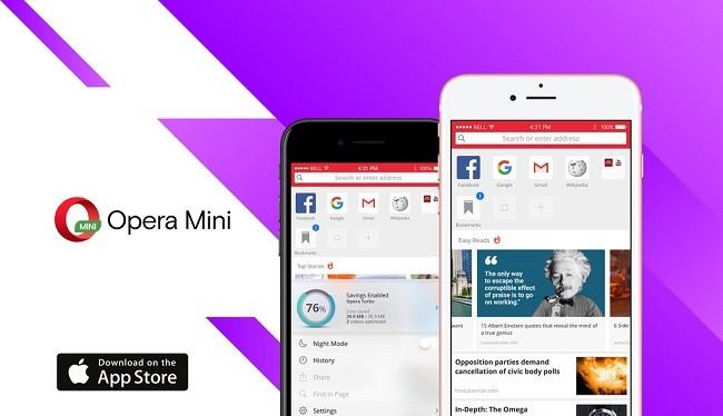 Opera Mini cho iOS được làm mới trước ngày ra mắt iPhone 8 (ảnh: Phone Arena)