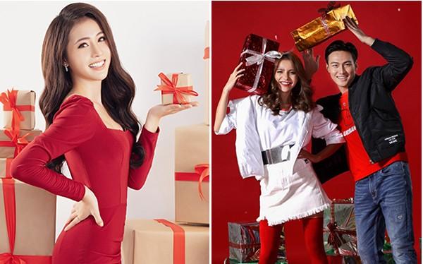Các sao lộng lẫy trong màu đỏ truyền thống đón Giáng sinh