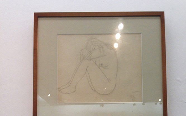 Một số bức tranh quý được lưu giữ của cố họa sĩ Nguyễn Sỹ Ngọc.