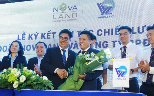 Ông Bùi Xuân Huy - Tổng giám đốc Novaland ký kết hợp tác cùng đối tác chiến lược Hải Âu chiều 7/3