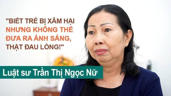 Luật sư Trần Thị Ngọc Nữ mạnh mẽ lên tiếng bảo vệ quyền của trẻ em gái