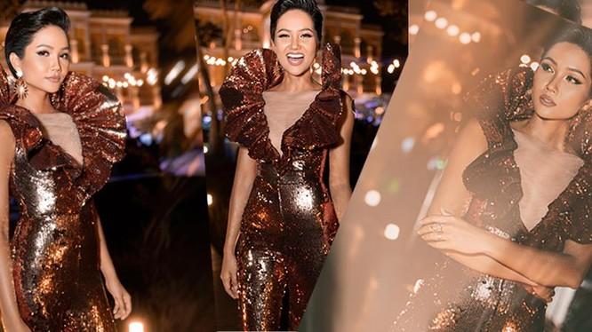 Hoa hậu H'Hen Niê bất ngờ diện lại chiếc váy từng gây tranh cãi