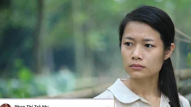 """Nữ diễn viên Trà My phim """"Thương nhớ ở ai"""" gây """"bão"""" vì status: """"Cảm ơn Cô Vy để dân số chết bớt cho rộng chỗ"""" (Ảnh chụp màn hình chia sẻ của Trà My)"""
