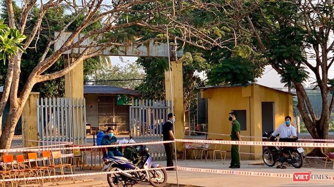 Một khu cách ly tại trường THCS Thành Long, huyện Châu Thành, tỉnh Tây Ninh (Ảnh: Đinh Trung Vũ)