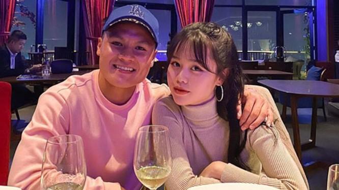 Quang Hải và bạn gái Huỳnh Anh vốn rất mặn nồng (Ảnh: FBNV)