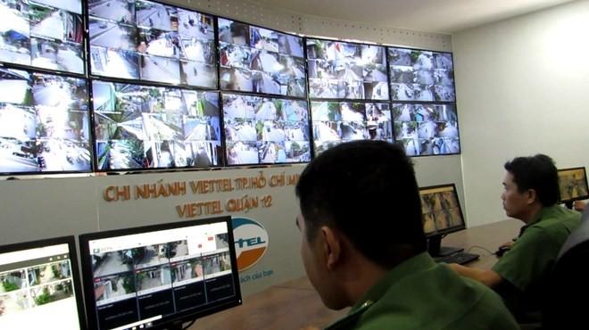 """Hàng ngàn """"mắt thần"""" camera an ninh giúp giảm hẳn nạn trộm cướp ở TP.HCM (Ảnh: CATP)"""