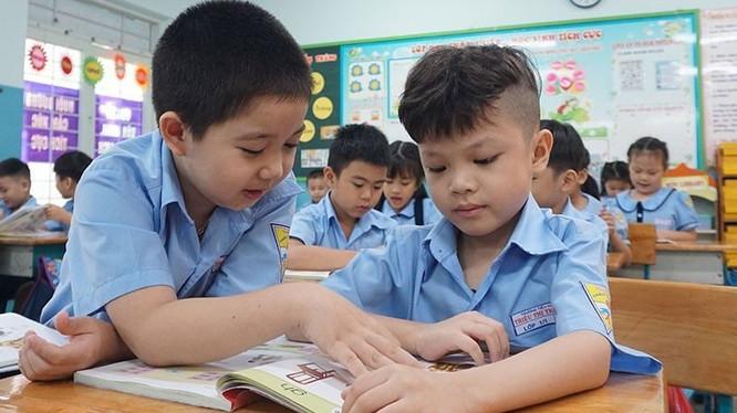 Học sinh Trường Tiểu học Triệu Thị Trinh, quận 10 trong một tiết học. Ảnh: Nguyễn Quyên
