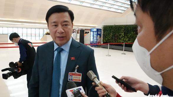Bí Thư tỉnh ủy Hải Dương Phạm Xuân Thăng trả lời báo chí (Ảnh: Tiến Long)