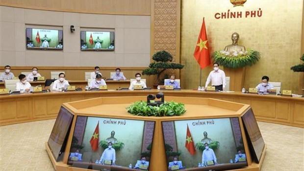 Thủ tướng Phạm Minh Chính chủ trì phiên họp. (Ảnh: Văn Điệp - TTXVN)