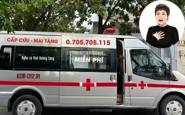 Nghệ sĩ Việt Hương tặng xe mai táng miễn phí tới người tử vong vì COVID-19. Ảnh: FBNV