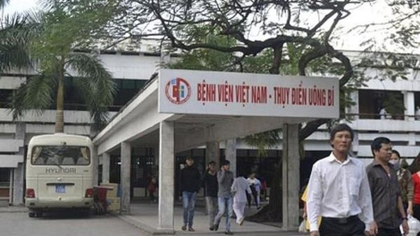 Bệnh viện Việt Nam - Thụy Điển Uông Bí (Quảng Ninh) nơi xảy ra vụ việc.