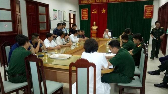BVTWQĐ 108 họp cùng gia đình cháu K. sáng 8/7.