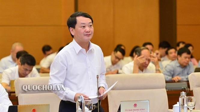 Ông Hầu A Lềnh - Phó Chủ tịch kiêm Tổng thư ký Ủy ban Trung ương Mặt trận Tổ quốc Việt Nam tại phiên họp thứ 38 của Ủy ban Thường vụ Quốc hội (Ảnh: quochoi.vn)