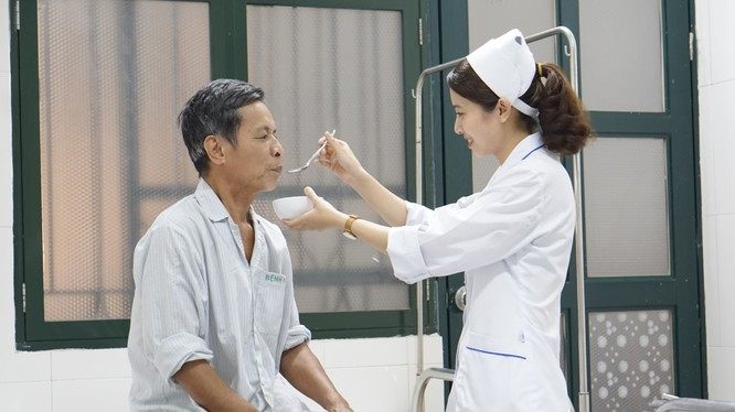 Bệnh nhân được chăm sóc tại Viện Sức khỏe tâm thần, Bệnh viện Bạch Mai.