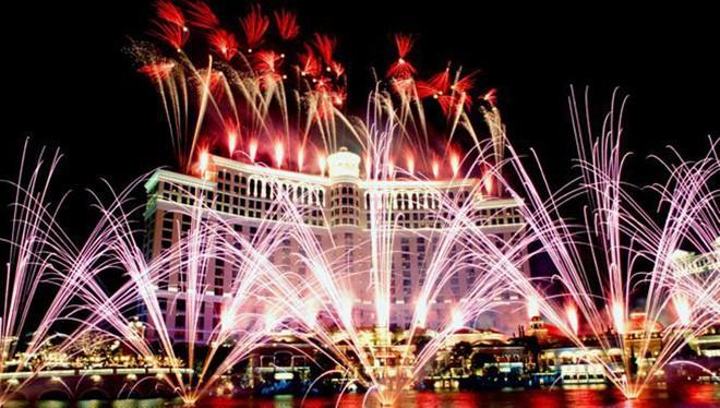 Tiệc năm mới tưng bừng tại Las Vegas (Mỹ)