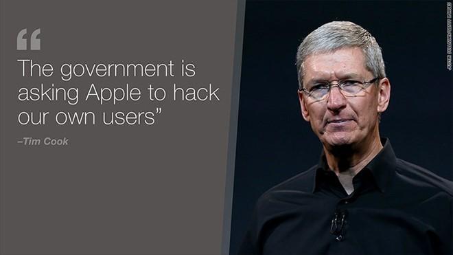 Chính phủ Mỹ nhân vụ việc ở San Bernardino, muốn Apple cung cấp giải pháp để FBI mở khoá mọi chiếc iPhone về sau. Ảnh: CNN Money.