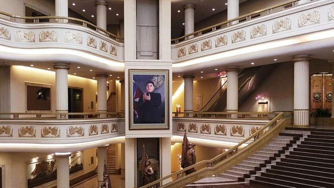 Cảnh tượng bên trong Bảo tàng Chiến tranh Giải phóng Tổ quốc ở thủ đô Bình Nhưỡng.