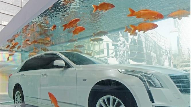 """Được biết, đây là một tác phẩm đường phố """"KingKong Mermaid"""" do hãng xe này tài trợ."""