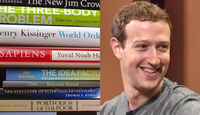 Ông chủ Facebook Mark Zuckerberg và các đầu sách. (Ảnh: Minh họa)