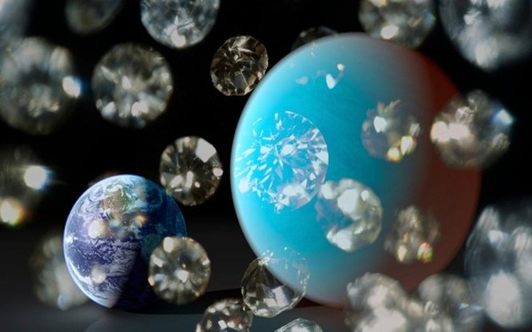 Hình ảnh của hành tinh được bao phủ đầy kim cương