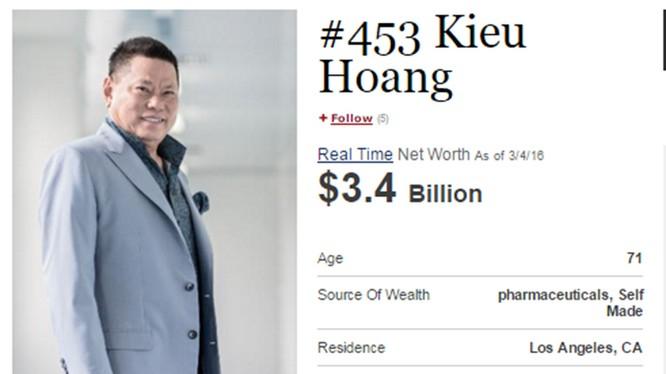 Người gốc Việt lần đầu lọt top 500 tỷ phú thế giới