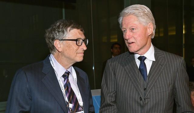 Bill Gates và cựu Tổng thống Mỹ Bill Clinton