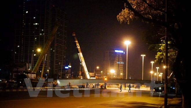 Hiện trường vụ tai nạn tại ngã tư đường Nguyễn Chánh – Hoàng Minh Giám.