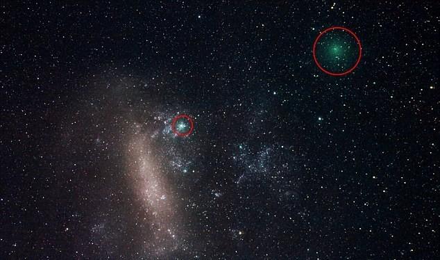 Hình minh họa vị trí của hai sao chổi bay gần địa cầu hôm 21/3 và 22/3. Ảnh: NASA