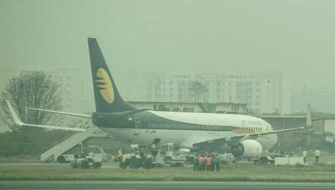 Máy bay của Jet Airways bị dọa đánh bom. (Nguồn: kathmandupost)
