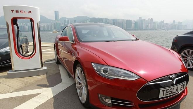 Hệ thống trạm sạc nhanh tính phí của Tesla được mở rộng trên toàn cầu. Ảnh:Tesla Motors.