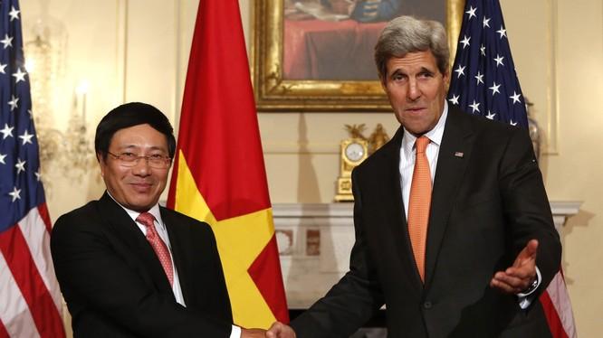 Phó Thủ tướng, Bộ trưởng Ngoại giao Phạm Bình Minh và Ngoại trưởng Mỹ John Kerry