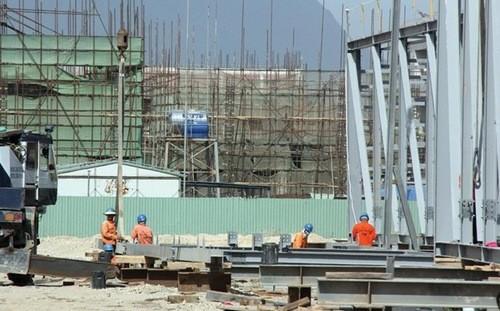 Trên công trường dự án Formosa, Hà Tĩnh.