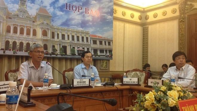 Đại diện Công an TP HCM vắng mặt trong cuộc họp báo mà nội dung chủ yếu xoay quanh vụ án quán cà phê Xin Chào. Ảnh: Hà Hương