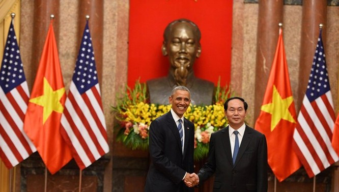 Video: Lễ đón Tổng thống Obama tại Phủ Chủ tịch