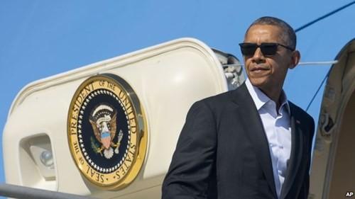 Tổng thống Mỹ Barack Obama thăm chính thức Việt Nam từ ngày hôm nay, sự kiện trở thành tâm điểm chú ý của truyền thông Trung Quốc. Ảnh: VOA.