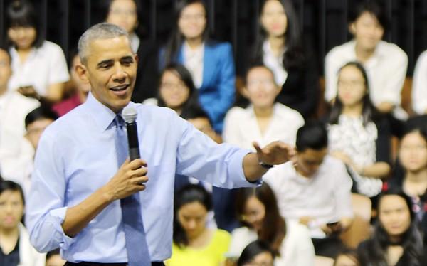 """Ông Obama: """"Muốn xây dựng môi trường có nhân tài tốt thì phải quan tâm đến chất lượng cuộc sống""""."""