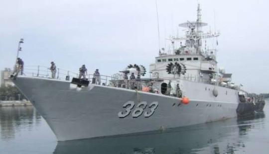 Tàu chiến KRI Imam Bonjol-383 của hải quân Indonesia. Ảnh: SCMP 