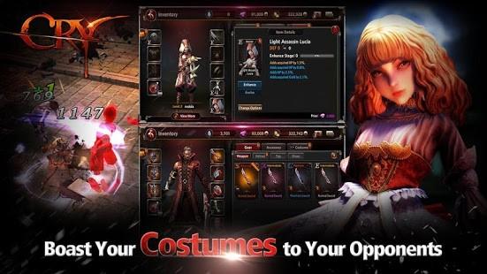 CRY là sản phẩm game mới của Eyedentity Mobile, cha đẻ của loạt game Dragon Nest và Dungeon Striker.