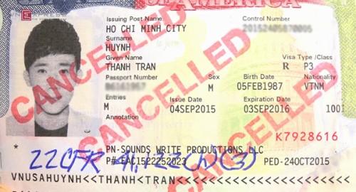 Visa loại P3 có hạn FED vào ngày 24/10/2015 được xem là nguyên nhân khiến Trấn Thành bị từ chối nhập cảnh.