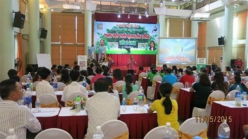Một cuộc hội thảo rầm rộ của Công ty Cổ phần Liên kết Tri thức K-Link Việt Nam. Ảnh: Dương Thu