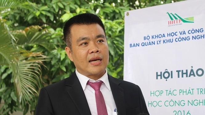 ông Nguyễn Lâm Thanh - Giám đốc Ban Khoa học Công nghệ, Khu Công nghệ cao Hòa Lạc.