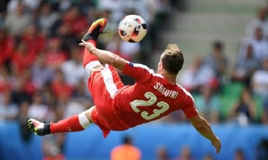 Hình ảnh đáng nhớ của Shaqiri tại Euro 2016.
