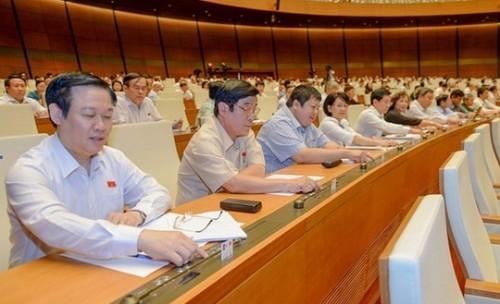 Các đại biểu trong một lần bấm nút biểu quyết tại Quốc hội.
