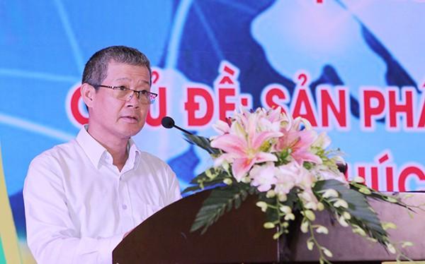 Thứ trưởng Nguyễn Thành Hưng nhấn mạnh: Bộ Thông tin và Truyền thông xác định cần tăng cường ứng dụng CNTT trong quá trình tái cơ cấu nông nghiệp và hiện đại hoá nông thôn.