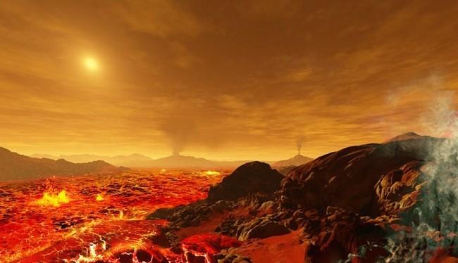 Khí gas dầy đặc khiến việc nhìn thấy Mặt Trời khi đang ở trên mặt Sao Kim là rất khó khăn.